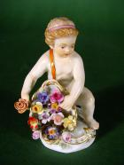 MEISSEN  FIGURKA  PUTTO